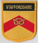 Staffordshire Embroidered Flag Patch, style 07